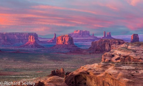 View of Monument Valley From Hunts Mesa at Sunset
